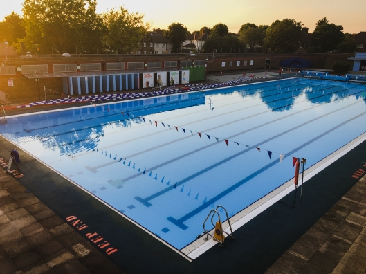 Charlton Lido Sunset, July 2017