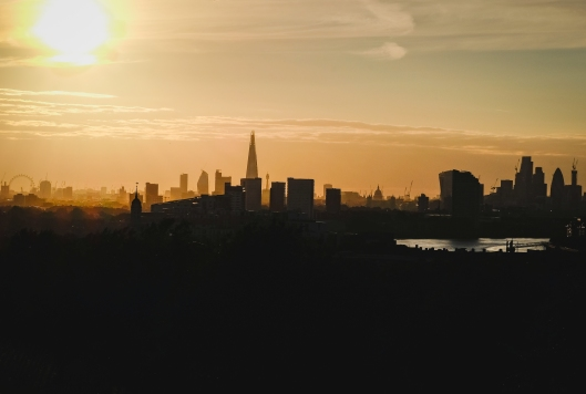 London Skyline Sunset