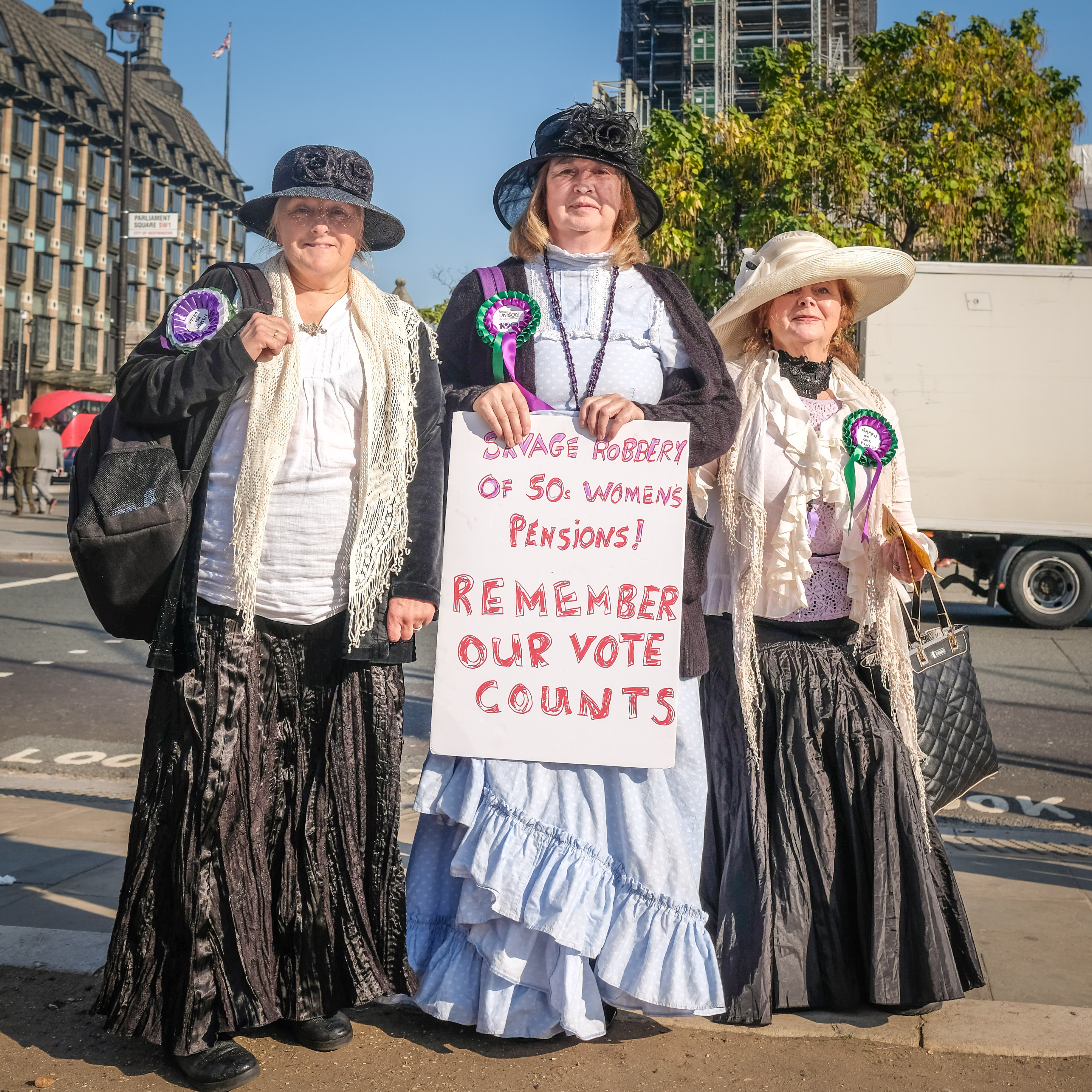 Women's Pension Rally Parliament Square 2018
