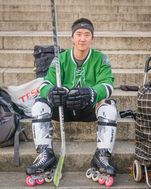 Roller hockey player - Hyde Park Street Portrait - November 2018